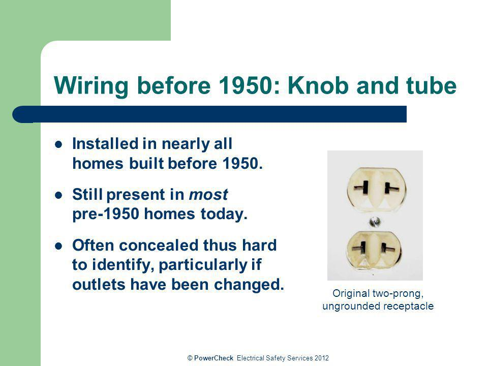Wiring before 1950: Knob and tube