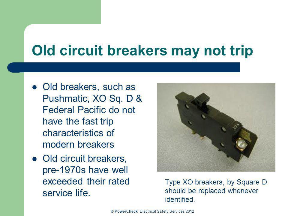 Old circuit breakers may not trip
