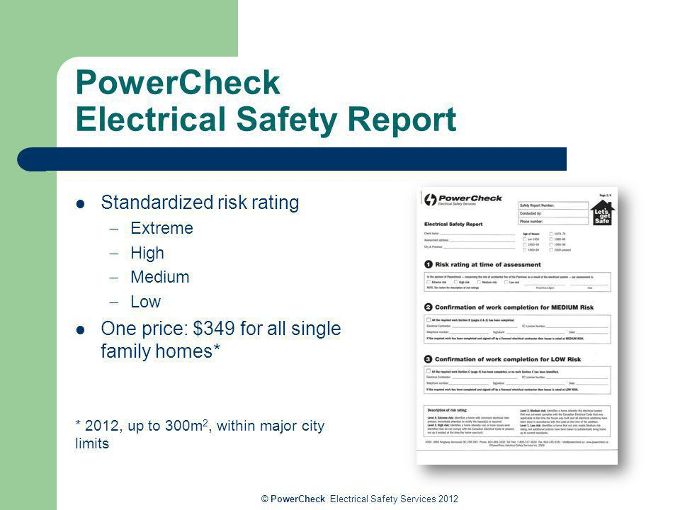 PowerCheck Electrical Safety Report