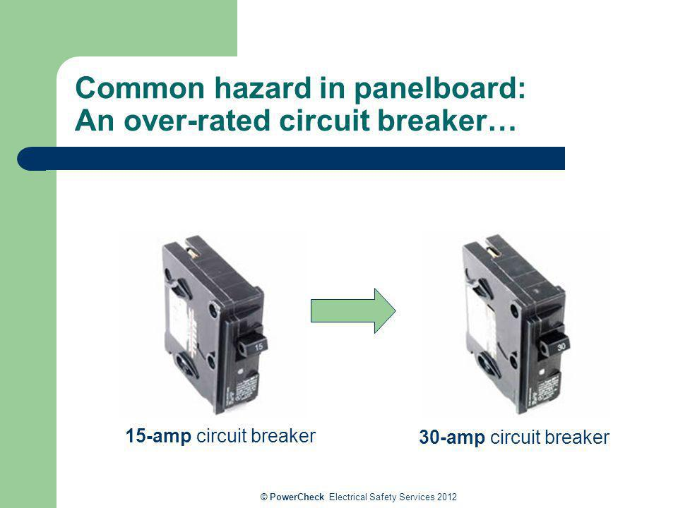 Common hazard in panelboard: An over-rated circuit breaker…
