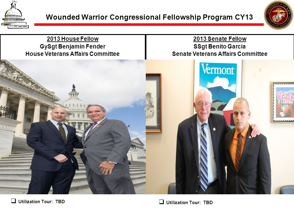 Wounded Warrior Congressional Fellowship Program CY13