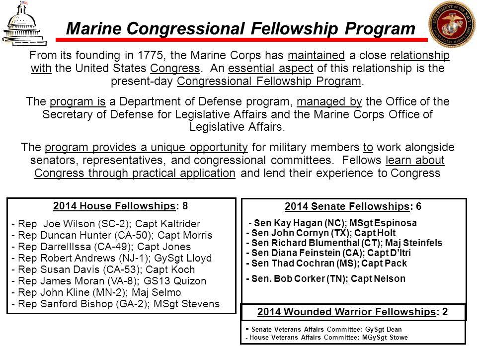 Marine Congressional Fellowship Program