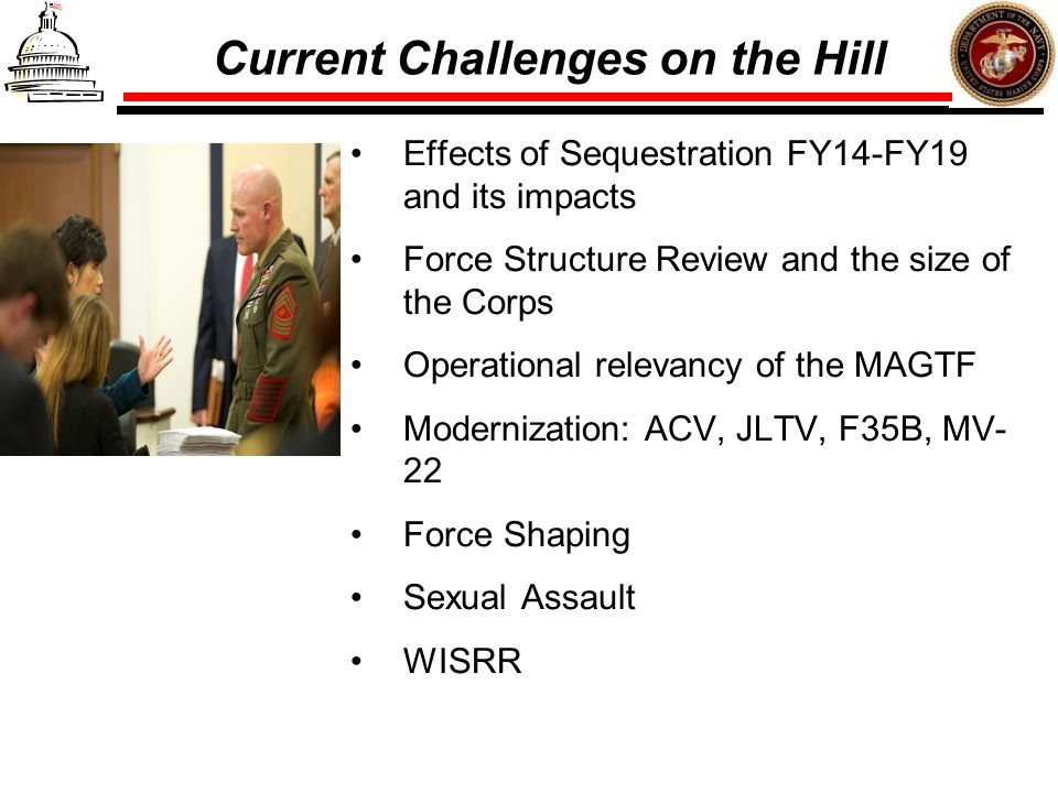Current Challenges on the Hill