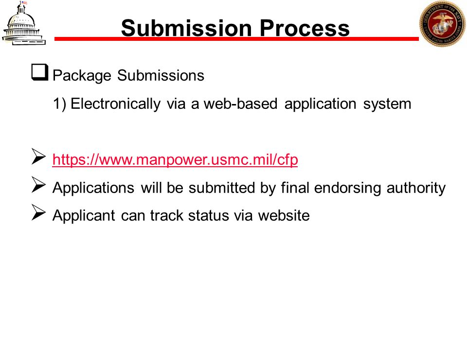 Submission Process Package Submissions