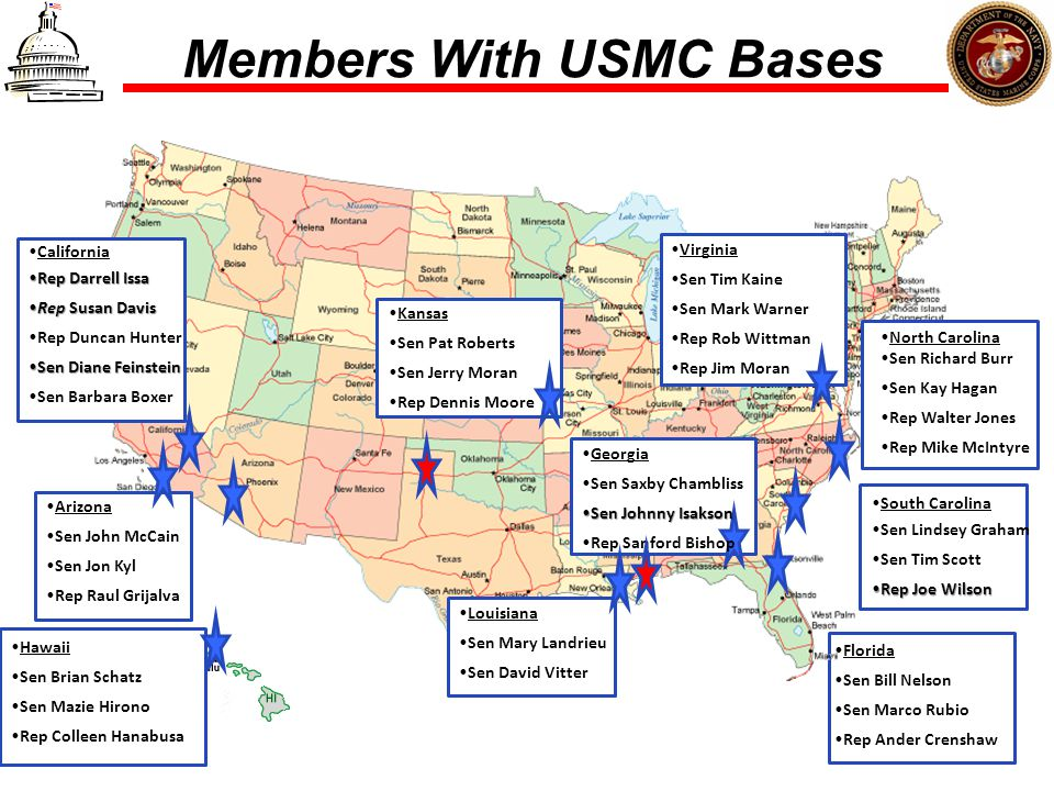 Members With USMC Bases