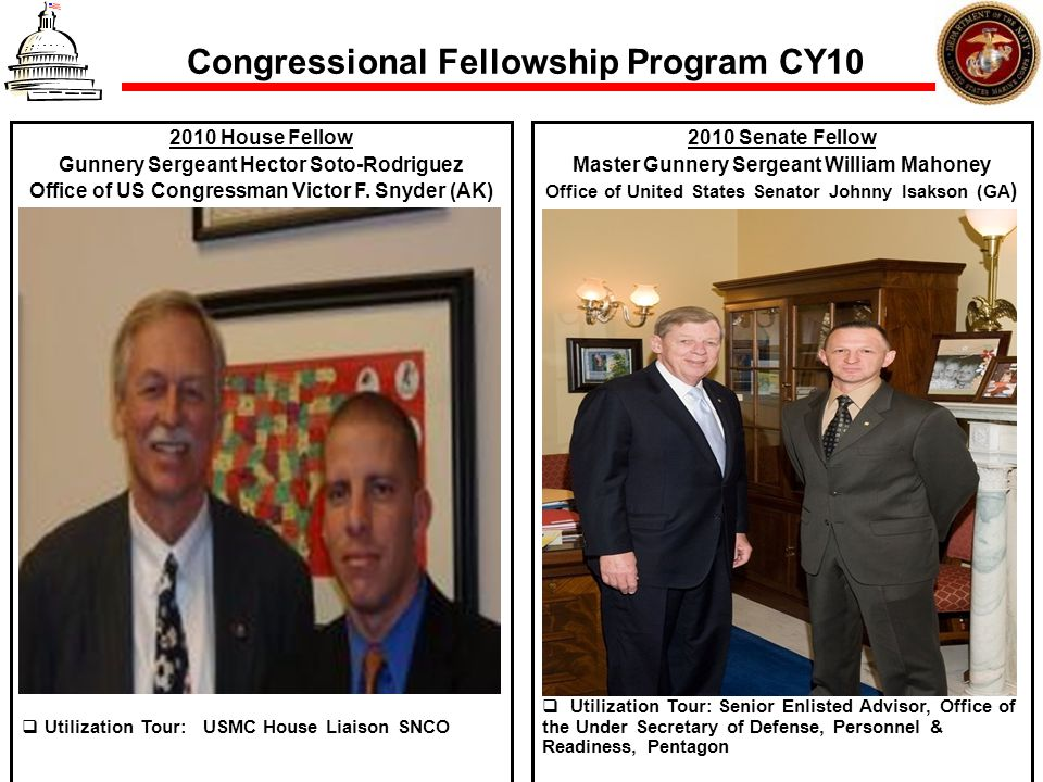 Congressional Fellowship Program CY10