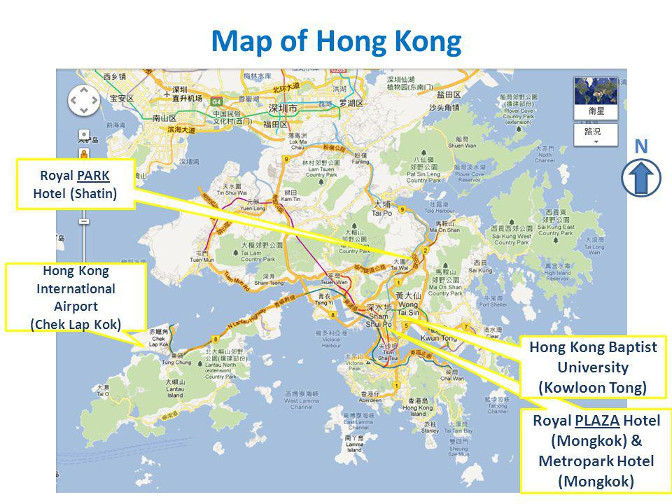 Map of Hong Kong N Hong Kong Baptist University (Kowloon Tong)