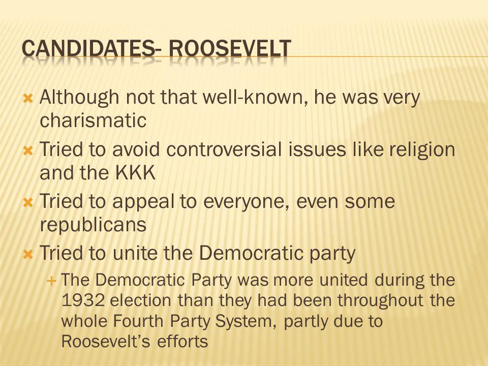 Candidates- roosevelt