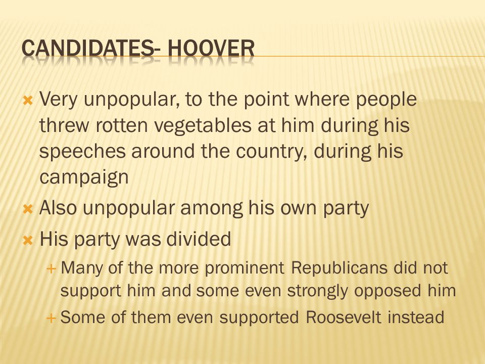 Candidates- hoover