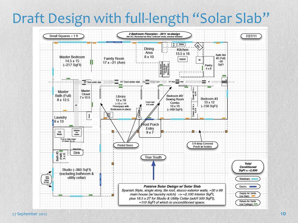 Draft Design with full-length Solar Slab