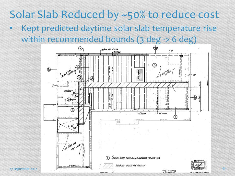 Solar Slab Reduced by ~50% to reduce cost