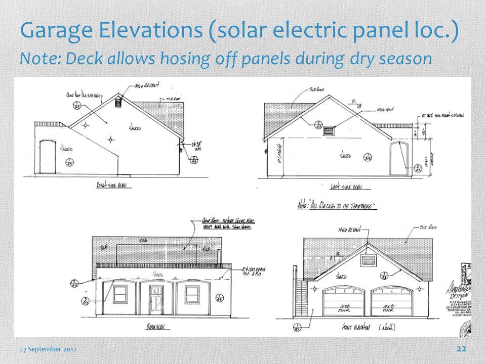 Garage Elevations (solar electric panel loc.)