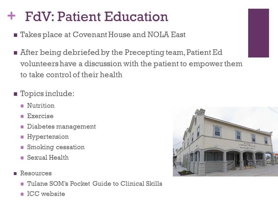 FdV: Patient Education