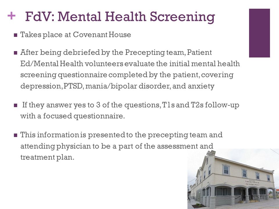 FdV: Mental Health Screening