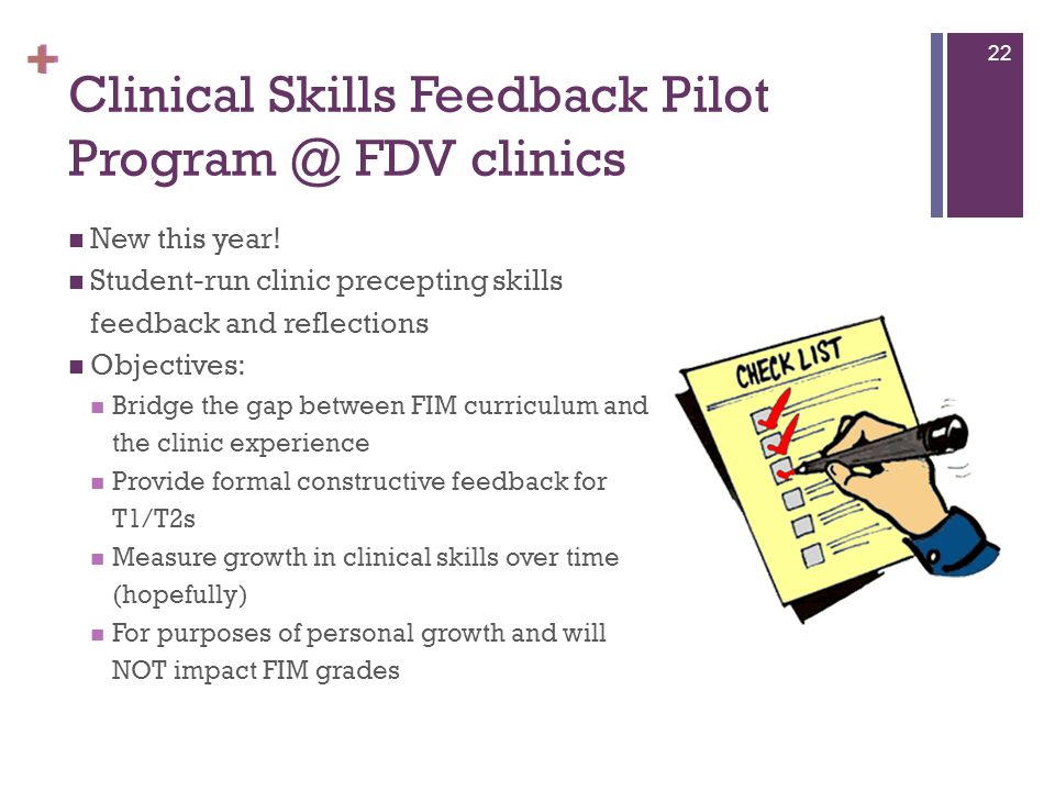 Clinical Skills Feedback Pilot Program @ FDV clinics
