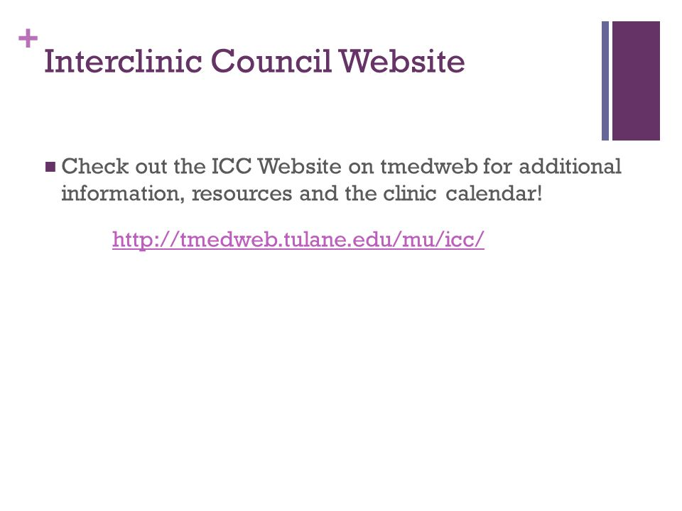 Interclinic Council Website