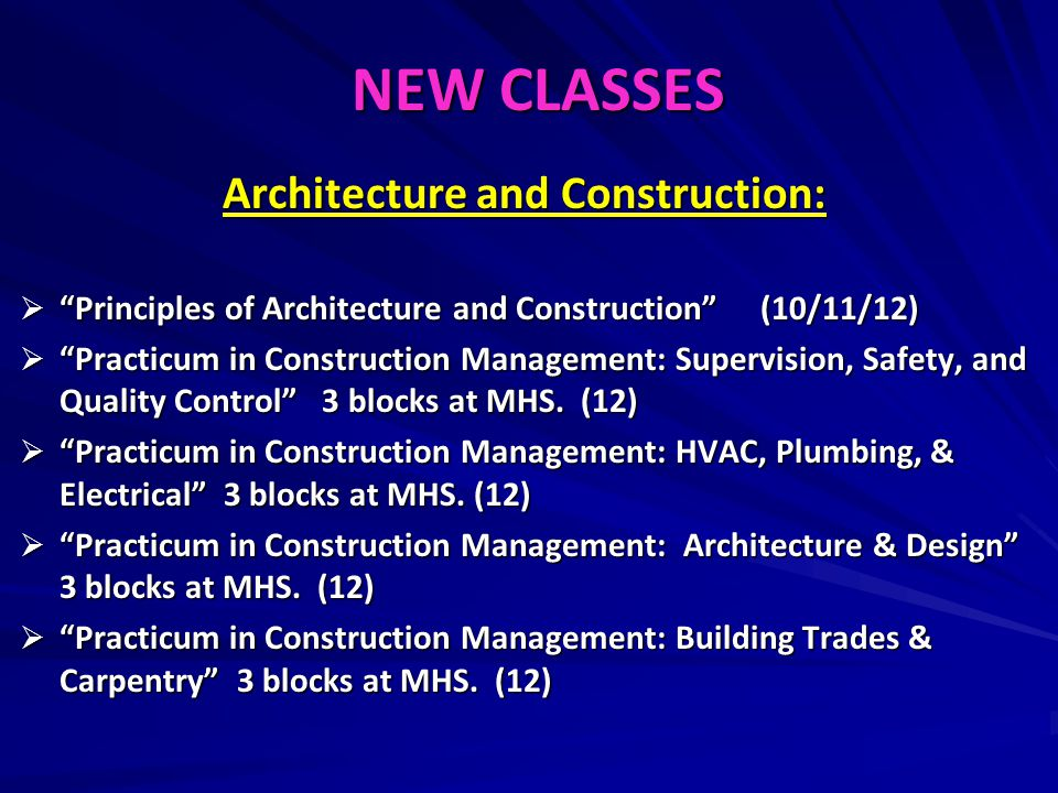 Architecture and Construction: