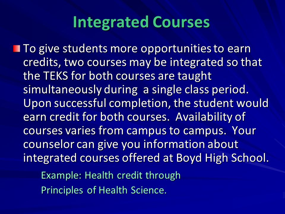Integrated Courses