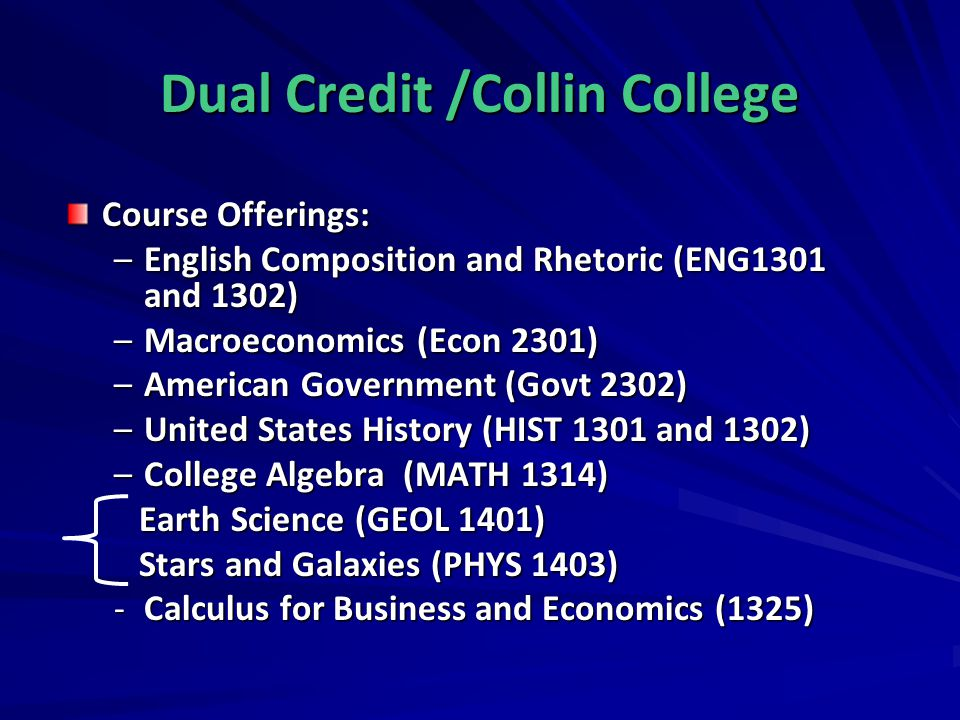 Dual Credit /Collin College