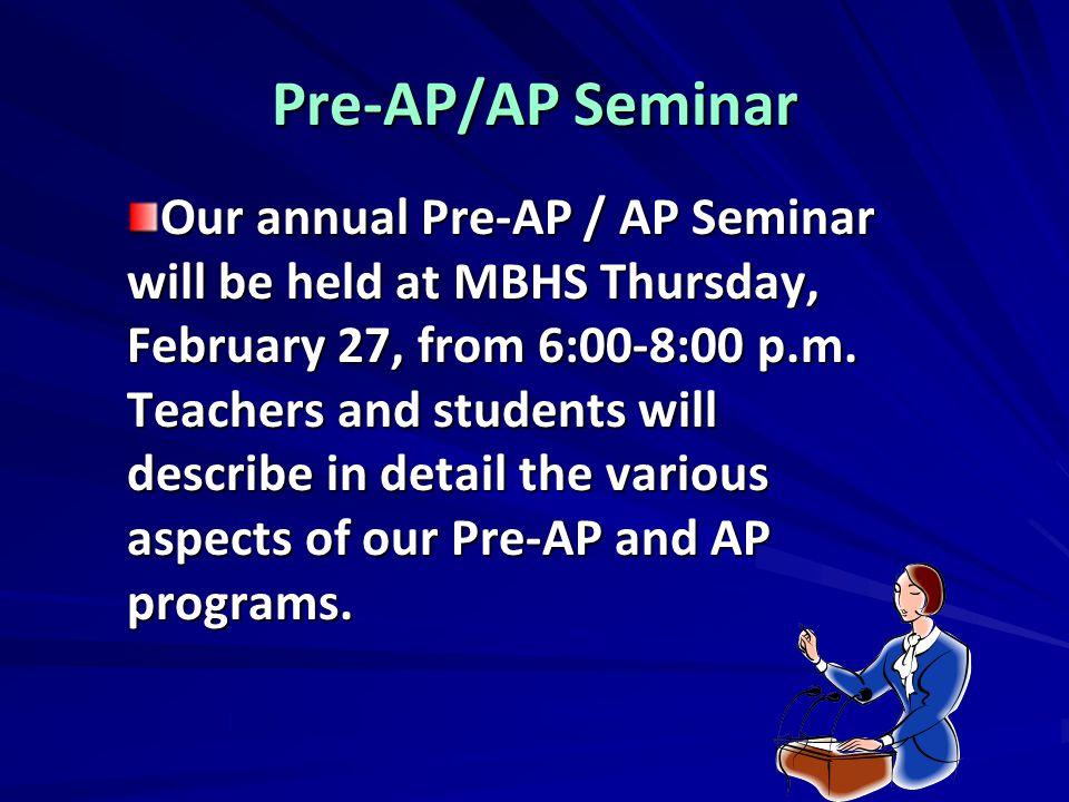 Pre-AP/AP Seminar
