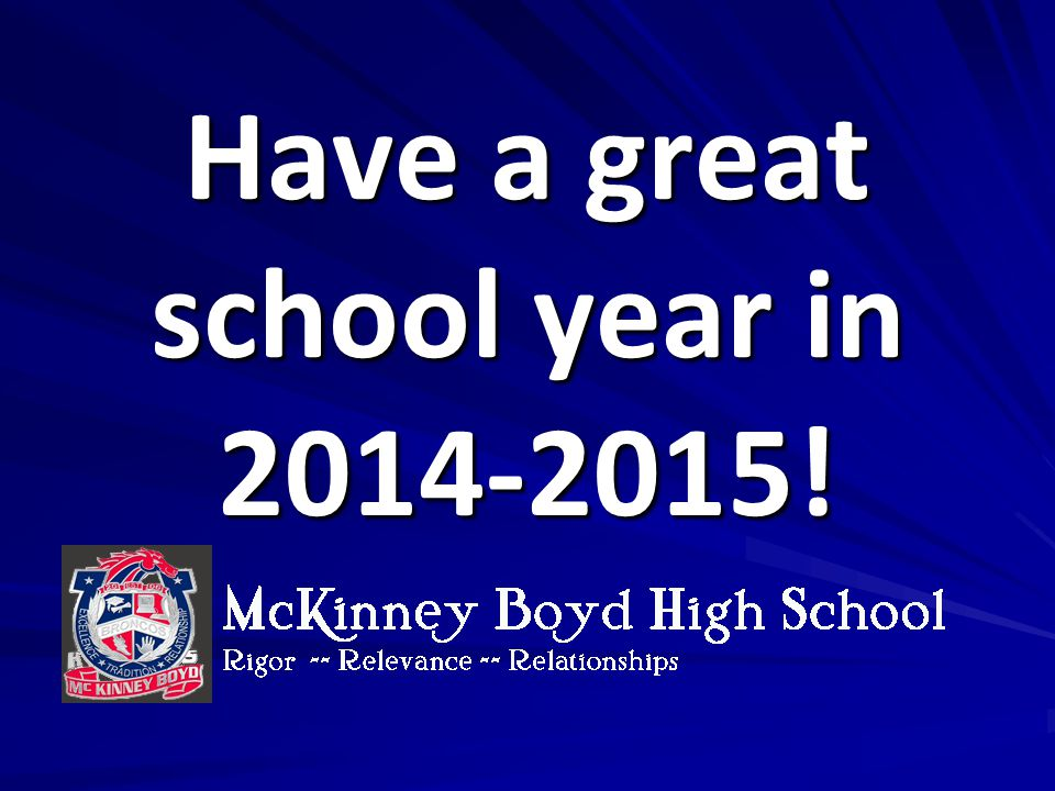 Have a great school year in 2014-2015!