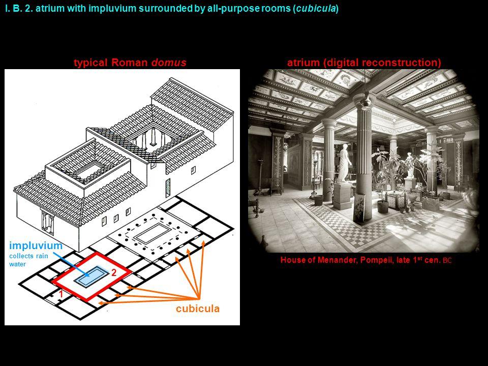 typical Roman domus atrium (digital reconstruction)