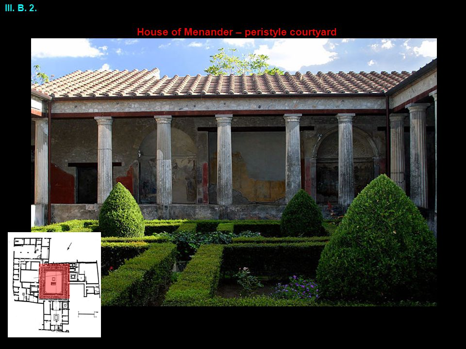 House of Menander – peristyle courtyard