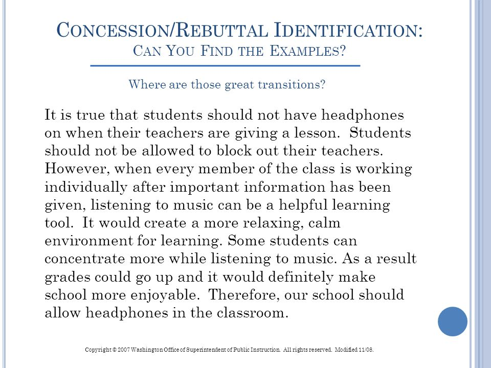 Concession/Rebuttal Identification: Can You Find the Examples