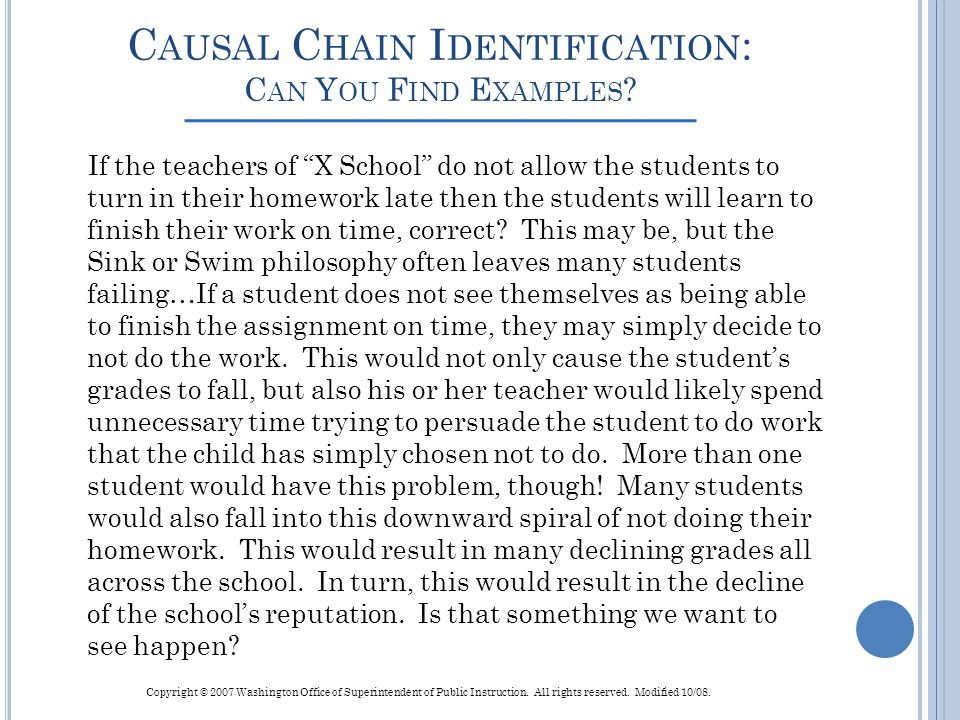 Causal Chain Identification: Can You Find Examples