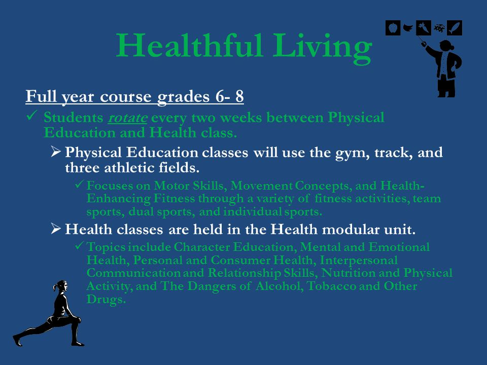 Healthful Living Full year course grades 6- 8
