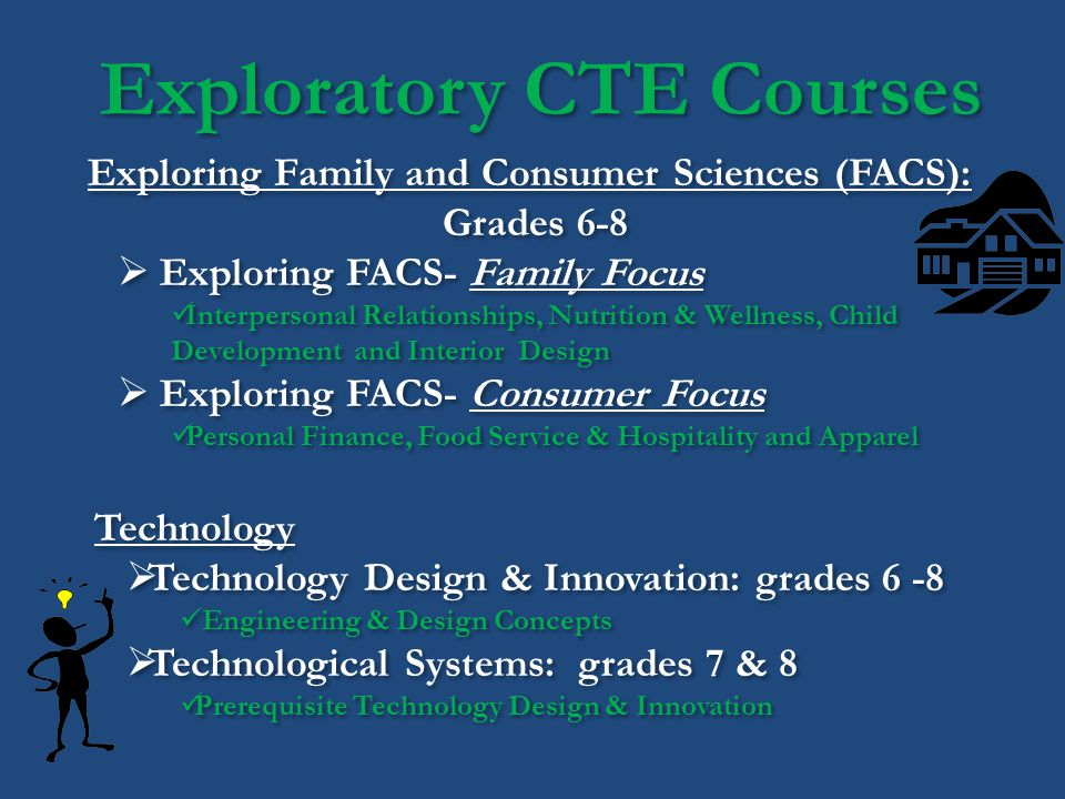 Exploratory CTE Courses Exploring Family and Consumer Sciences (FACS):