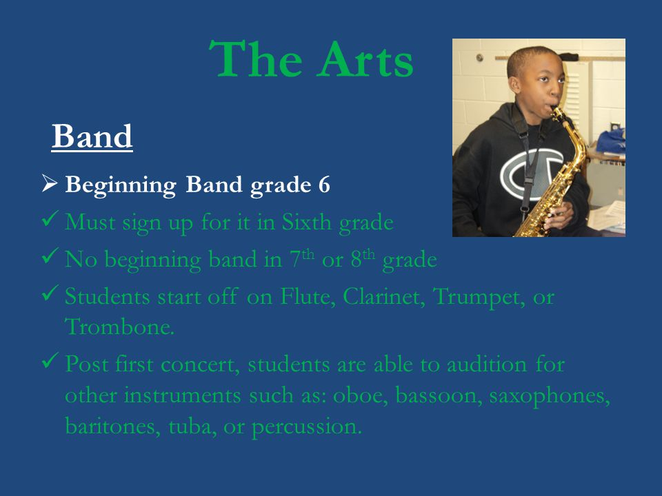 The Arts Band Beginning Band grade 6