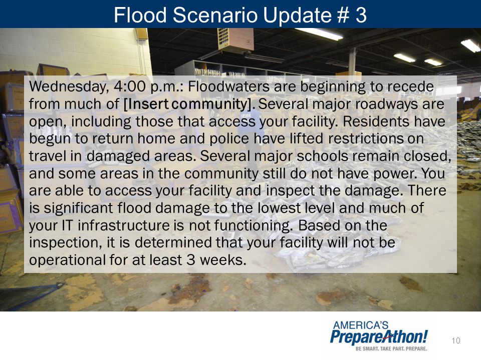 Flood Scenario Update # 3
