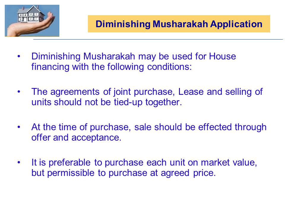 Diminishing Musharakah Application