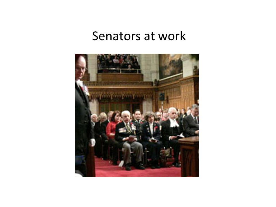 Senators at work