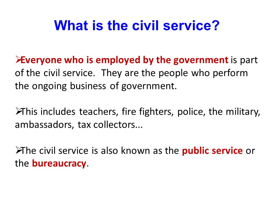 What is the civil service