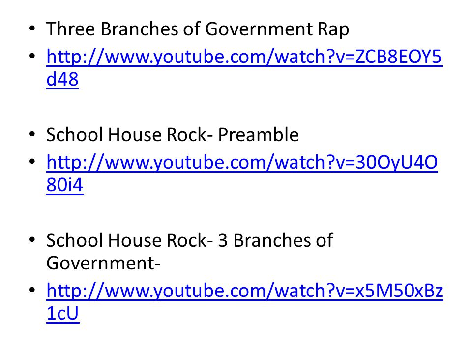 Three Branches of Government Rap