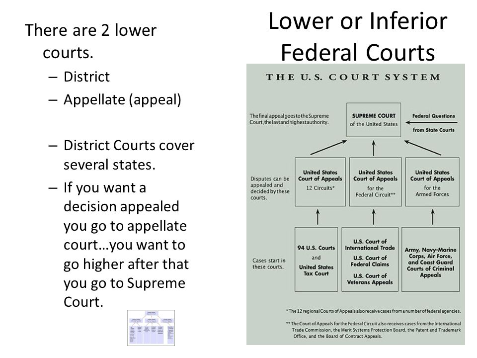 Lower or Inferior Federal Courts
