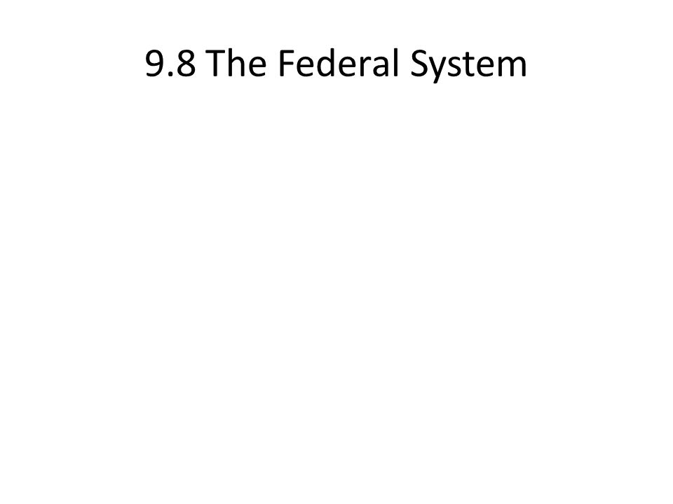 9.8 The Federal System