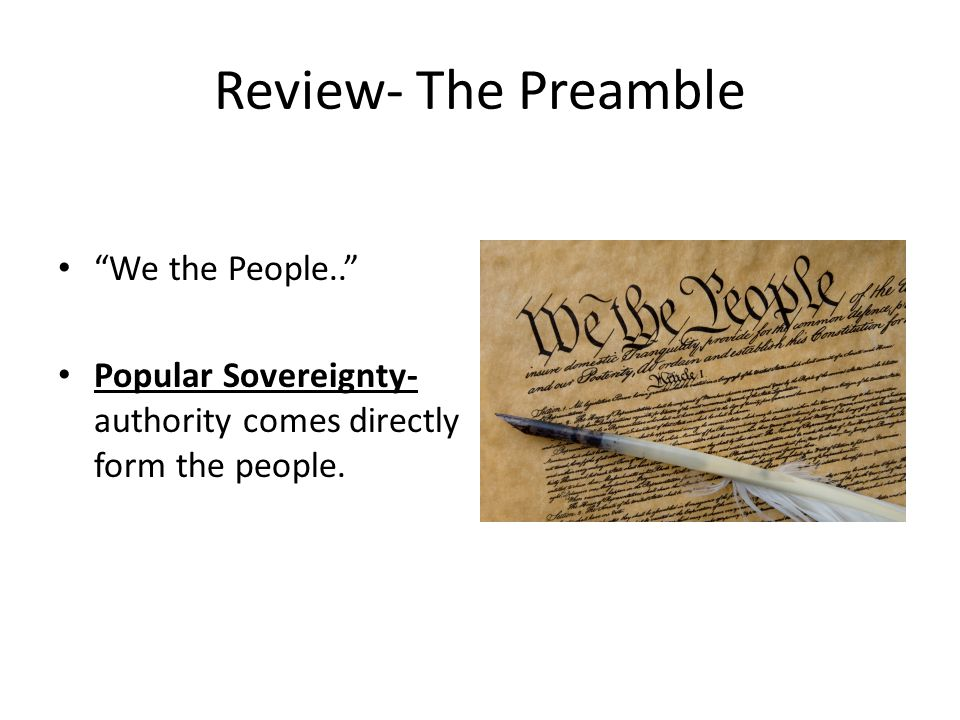 Review- The Preamble We the People..