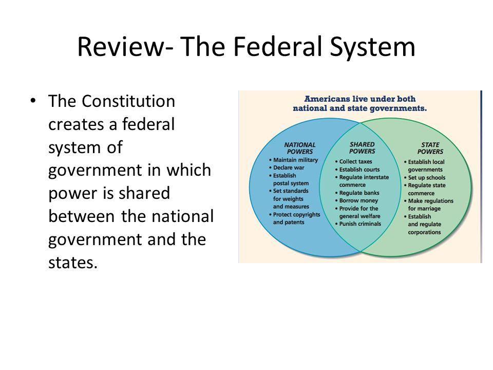 Review- The Federal System