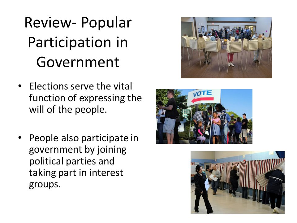 Review- Popular Participation in Government