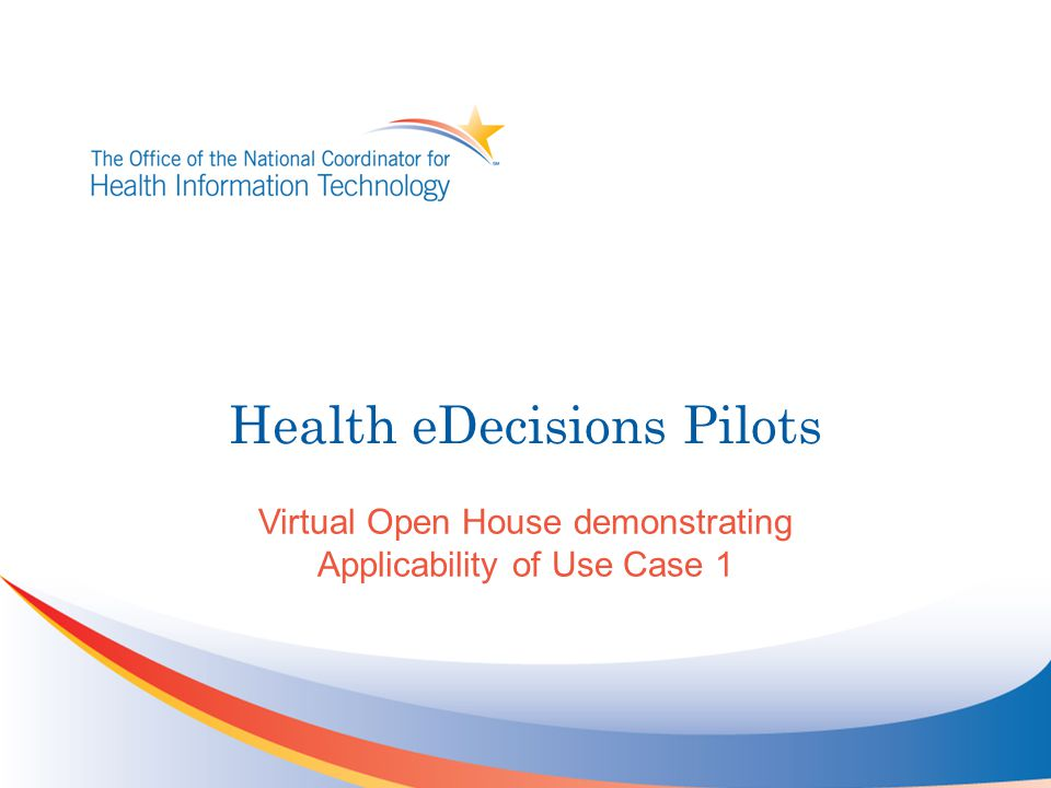 Health eDecisions Pilots