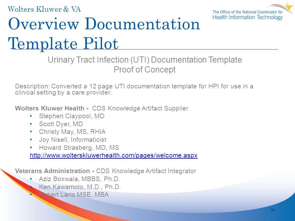 Wolters Kluwer & VA Overview Documentation Template Pilot