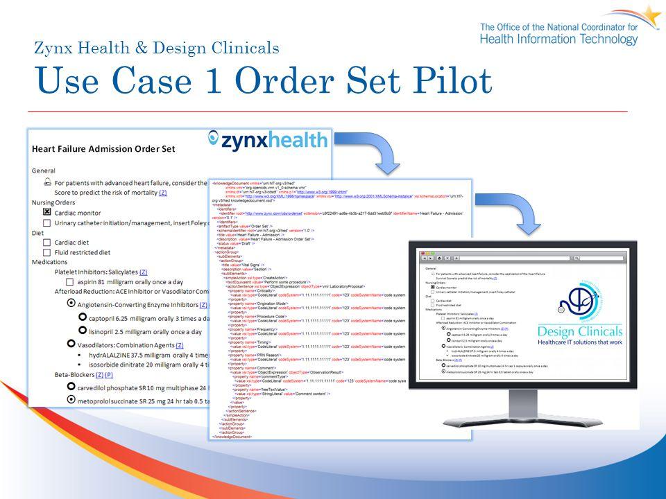Zynx Health & Design Clinicals Use Case 1 Order Set Pilot