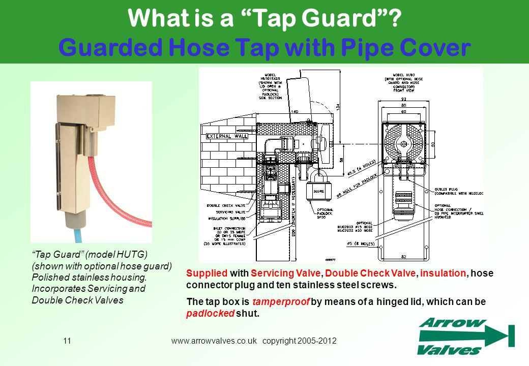 Guarded Hose Tap with Pipe Cover