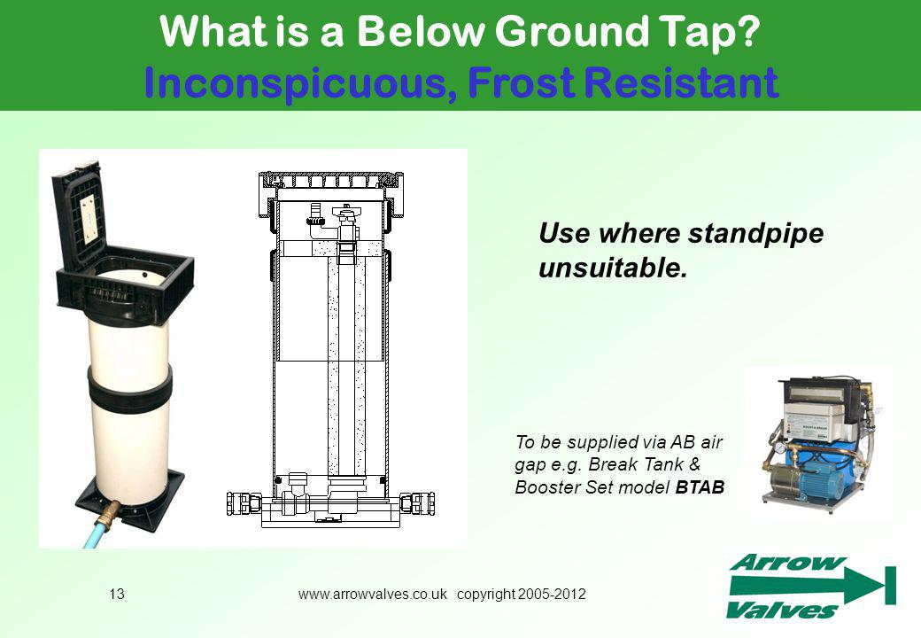 What is a Below Ground Tap Inconspicuous, Frost Resistant