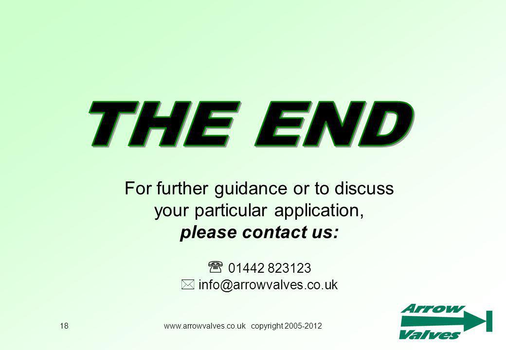 www.arrowvalves.co.uk copyright 2005-2012