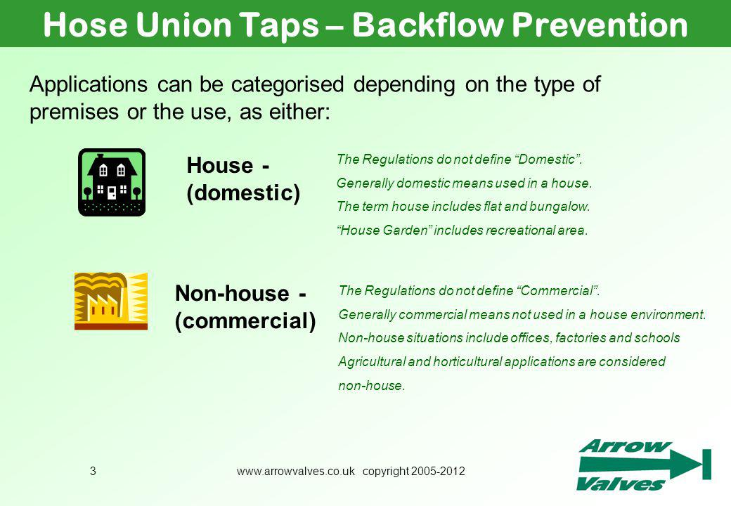 Hose Union Taps – Backflow Prevention