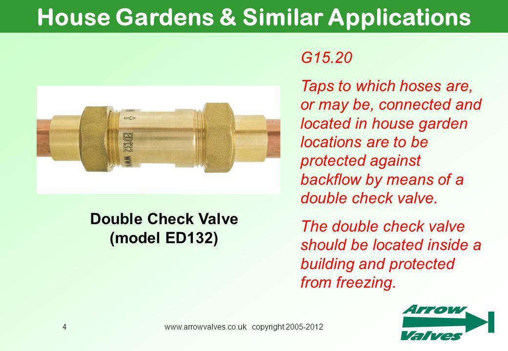 House Gardens & Similar Applications Double Check Valve (model ED132)